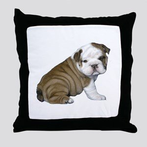 English Bulldog Puppy1 Throw Pillow