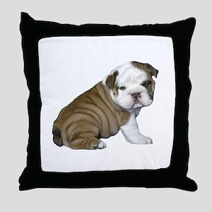 English Bulldog Puppy1 Throw Pillow