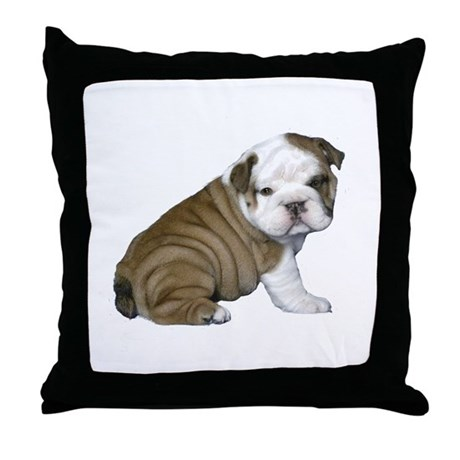 english bulldog blanket english bulldog puppy1 throw pillow by justthedog 100