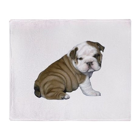 english bulldog blanket english bulldog puppy1 throw blanket by justthedog 9944