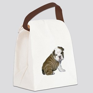 English Bulldog Puppy1 Canvas Lunch Bag