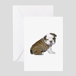 English Bulldog Puppy1 Greeting Card