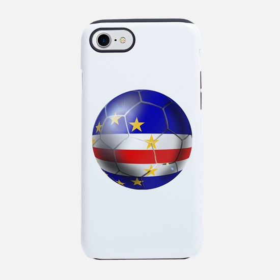 Cape Verde Soccer Ball iPhone 7 Tough Case