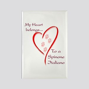Spinone Heart Belongs Rectangle Magnet