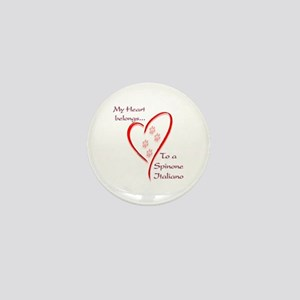 Spinone Heart Belongs Mini Button