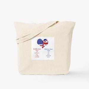 American Daddy, English Mummy Tote Bag