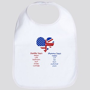 American Daddy, English Mummy Bib