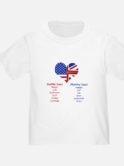 American Daddy, English Mummy T