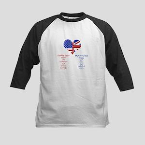 American Daddy, English Mummy Kids Baseball Jersey