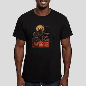 Steinlen Cat Men's Fitted T-Shirt (dark)