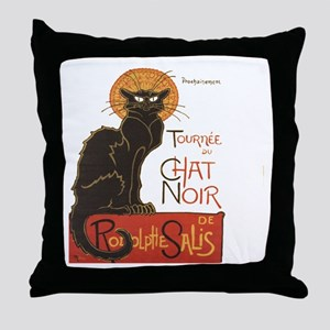 Steinlen Cat Throw Pillow