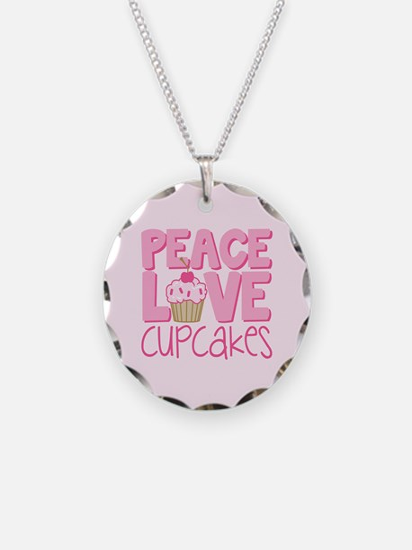 Peace Love Cupcake Necklace