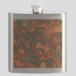 abstract joy red Flask