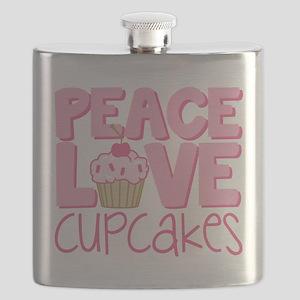 Peace Love Cupcake Flask