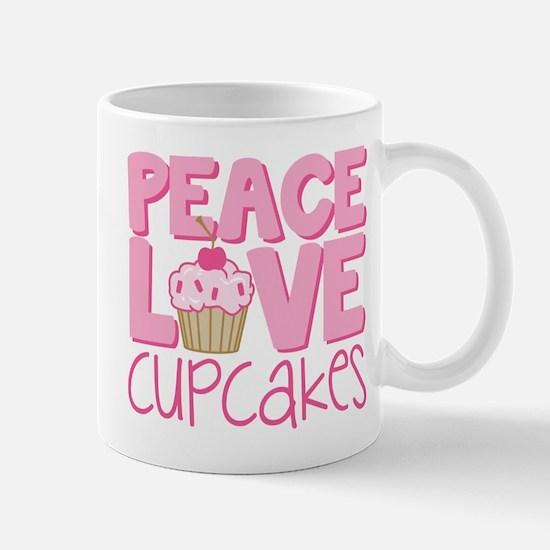 Peace Love Cupcake Mug