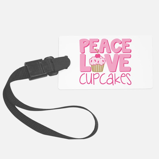 Peace Love Cupcake Luggage Tag