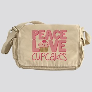 Peace Love Cupcake Messenger Bag