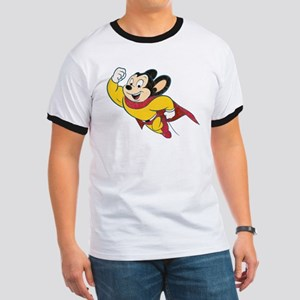 Grunge Mighty Mouse Ringer T