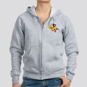 Grunge Mighty Mouse Women's Zip Hoodie