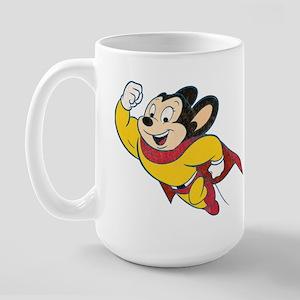 Grunge Mighty Mouse Large Mug