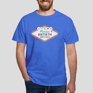 Las Vegas Birthday 60 Dark T-Shirt