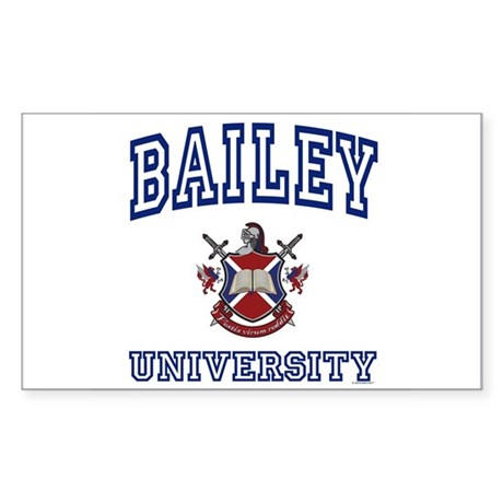 BAILEY University Rectangle Sticker