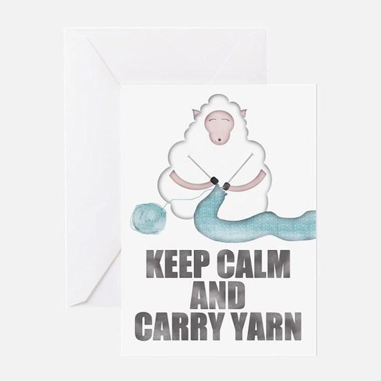 Cute Keep calm and knit Greeting Card