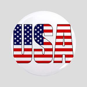 """USA Flag 3.5"""" Button"""