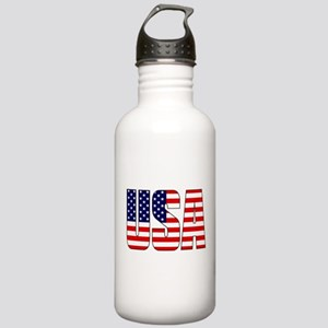 USA Flag Water Bottle