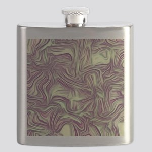 abstract joy ,vintage colors Flask