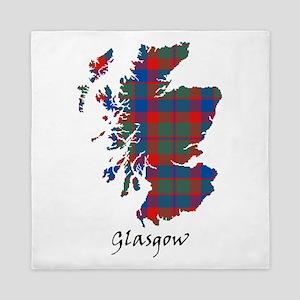 Map - Glasgow dist. Queen Duvet