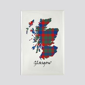 Map - Glasgow dist. Rectangle Magnet
