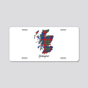 Map - Glasgow dist. Aluminum License Plate