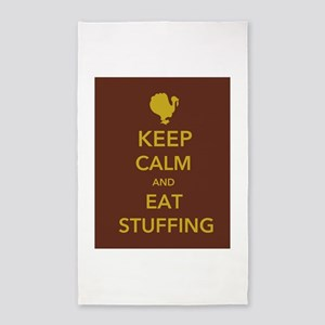 Keep Calm and Eat Stuffing 3'x5' Area Rug