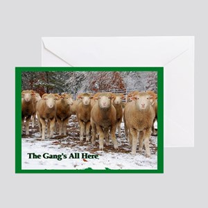 Sheep Gang Festivities Greeting Cards