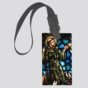 Saint Francis of Assisi Large Luggage Tag