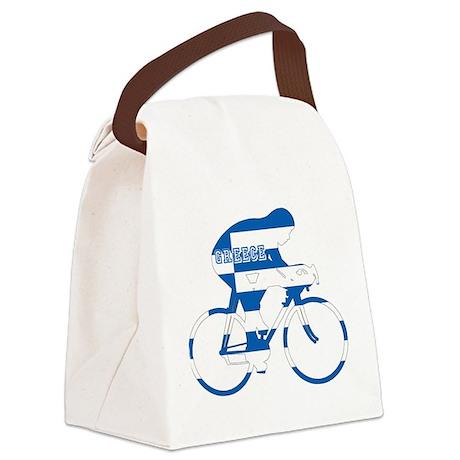 Greek Cycling Canvas Lunch Bag