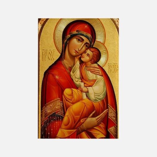Mary The God Bearer Rectangle Magnet