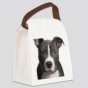 Pitbull Lovers Canvas Lunch Bag
