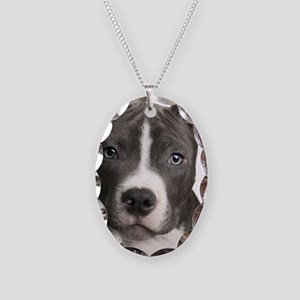 Pitbull Lovers Necklace Oval Charm