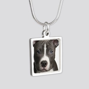Pitbull Lovers Silver Square Necklace