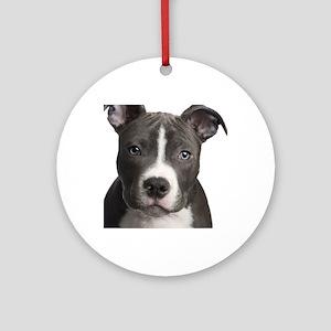 Pitbull Lovers Round Ornament
