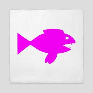 Pink Cartoon Fish Queen Duvet