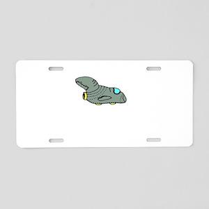 Spaceship Point Five Aluminum License Plate