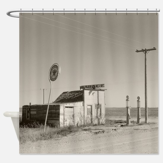 Abandoned Texaco Station, 1937 Shower Curtain