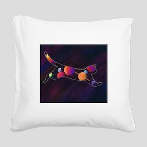 Cosmic Cat Square Canvas Pillow