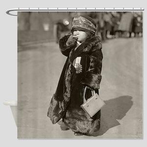 Midget Flapper Girl, 1924 Shower Curtain