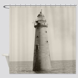 Minots Ledge Light, 1880 Shower Curtain