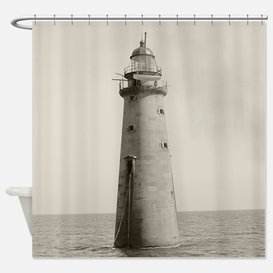Minots Ledge Light, 1880 Shower Curtain
