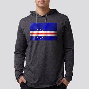 Cabo Verde Flag Mens Hooded Shirt